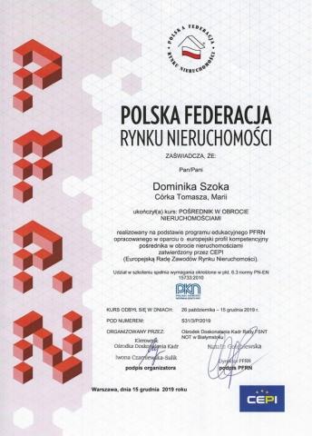 Szoka - Agencja nieruchomości - Białystok - Kurs pośrednika nieruchomości